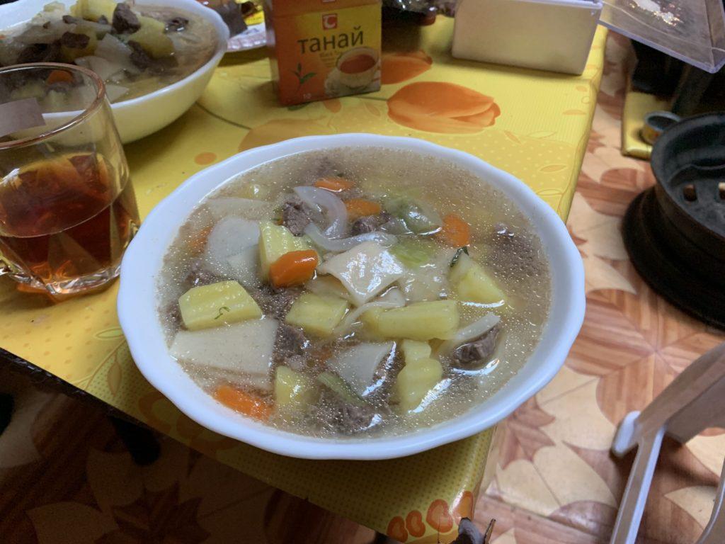 モンゴルのスープ