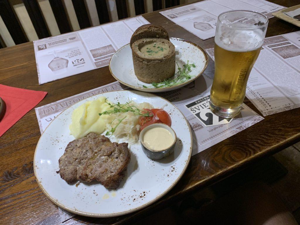 リトアニアでの昼食